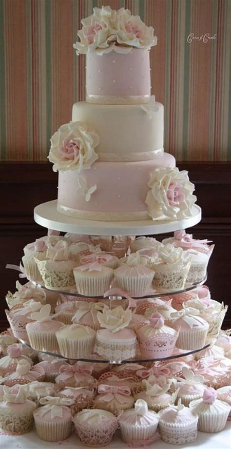 Wedding Cake With Cupcakes by Fondant Wedding Cakes Wedding Cupcake Design 802387