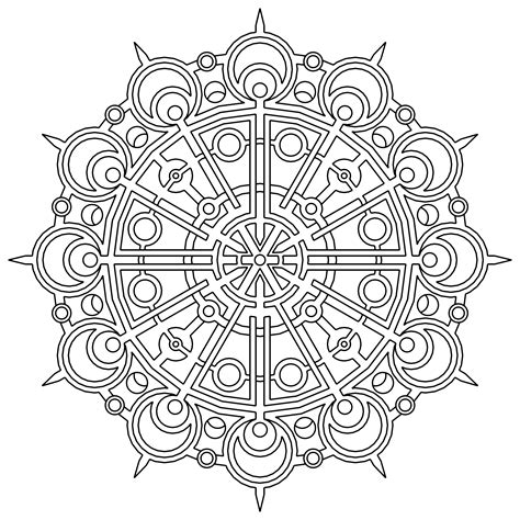 geometric coloring pages free printable geometric coloring pages for