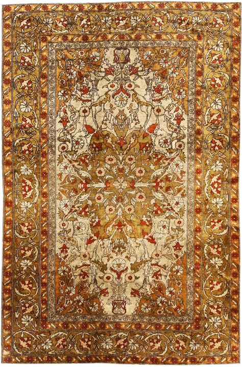 Turkish Rugs by Small Scatter Size Antique Turkish Silk Rug 1188 Nazmiyal