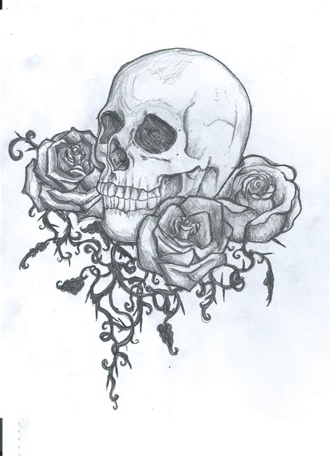 vampire with skull and roses tattoo design 187 tattoo ideas