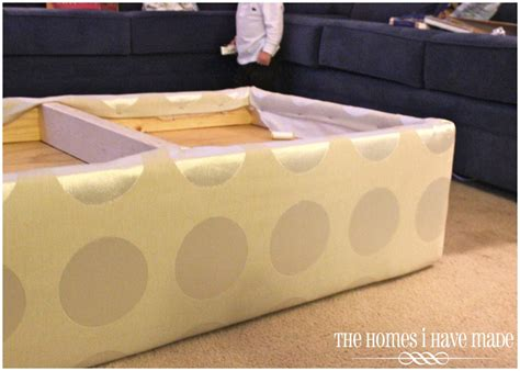 how to build an ottoman how to make an oversized ottoman tutorial the homes i