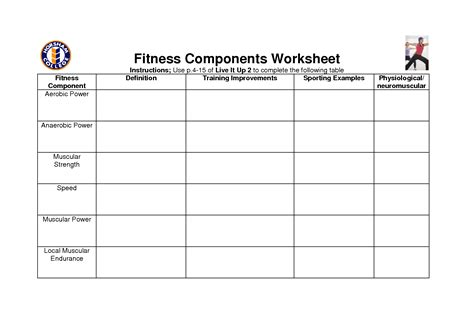Exercise Worksheets by 16 Best Images Of Exercise And Nutrition Worksheets