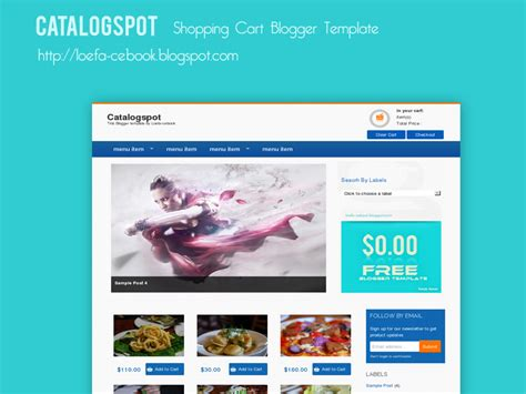 catalogspot shopping cart blogger template thuthuatlaptop