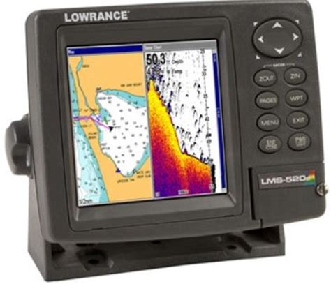 by type lowrance lowrance 123 40 model lms 520c sonar gps chartplotter