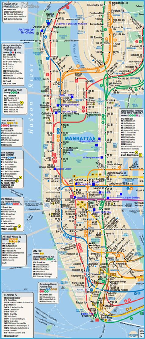 manhattan new york map map new york map manhattan travelsfinders
