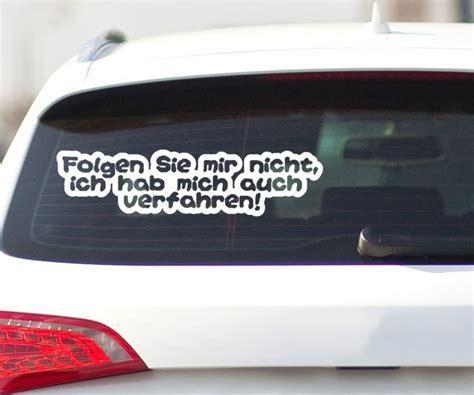 Auto Aufkleber Lustig by Autoaufkleber Auch Verfahren Auto Heck Sticker Tattoo