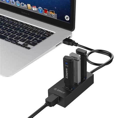 Usb3 0 Gigabit Ethernet With Hub orico usb3 0 hub with gigabit lan ethernet adapter hr01