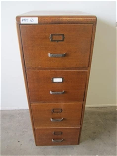 Timber Filing Cabinets Silky Oak Timber 4 Drawer Filing Cabinet Auction 0043 7001252 Graysonline Australia