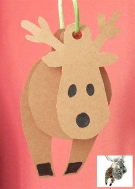 Reindeer Paper Craft - paper crafts feltmagnet