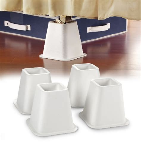 white bed risers 6 inch white bed risers
