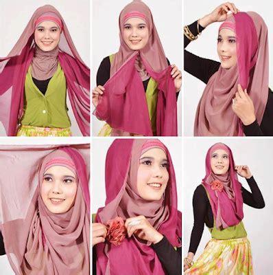 Tips Jilbab Segi Empat kreasi jilbab segi empat tips til cantik dengan jilbab