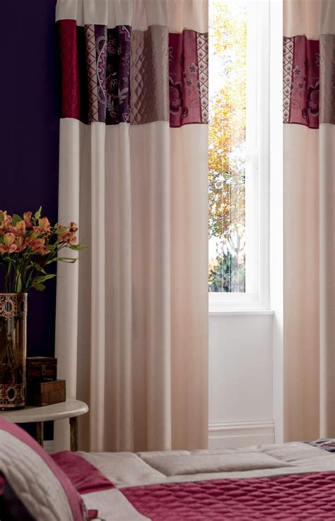 purple and cream curtains purple plum pink cream beige embroidered duvet covers