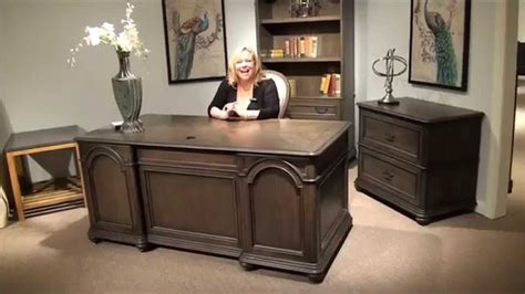 belmeade executive desk and file cabinet by riverside