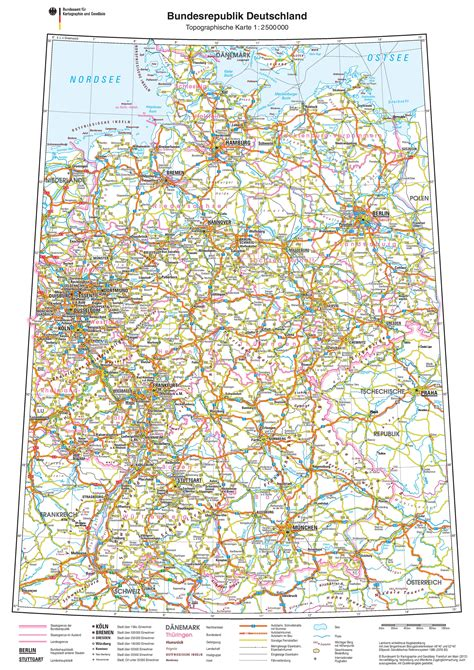 road map of germany germany road map
