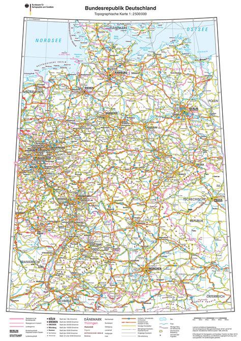 roadmap of germany germany road map