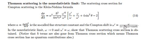 klein nishina cross section the scattering cross section for compton scatterin