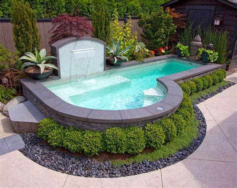 Small Pool Backyard Ideas Small Backyard Inground Pool Design Backyard Design Ideas