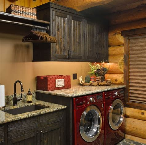 rustic laundry room decor rustic laundry room decor with cherry cabinets
