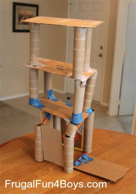 How To Make Sticks With Toilet Paper Rolls - building activity for straws and paper towel rolls