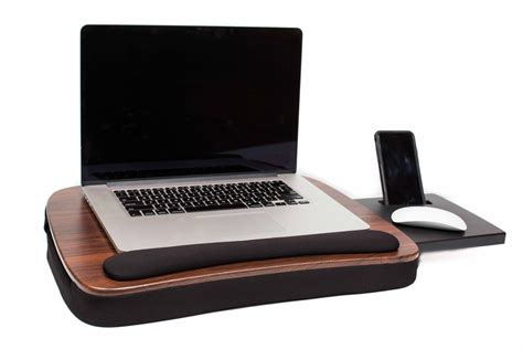 Sofia Sam Laptop Desk Sofia Sam Multi Tasking Memory Foam Desk Wood Top With Usb Light