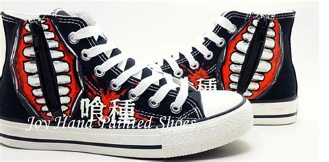 glow in the paint shoes tokyo ghoul anime shoes glow in the painted by