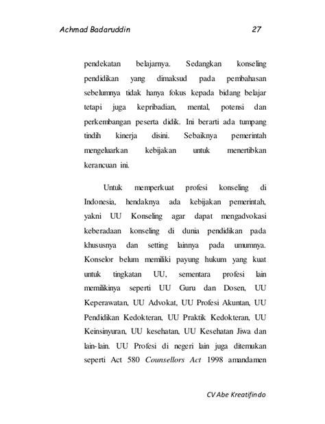 Profesi Akuntan Publik Di Indonesia Pembahasan Kritis analisis kritis terhadap permendikbud no 111 tahun 2014 tentang bimb