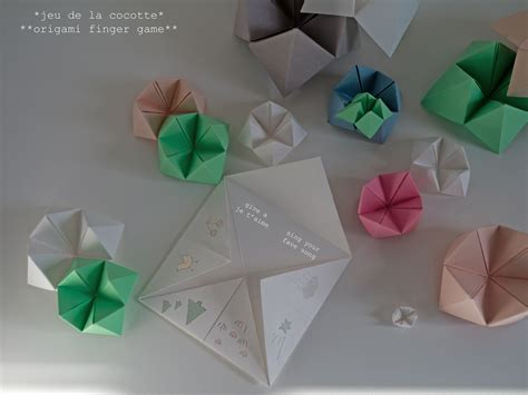 Origami Finger - origami for gallery craft decoration ideas