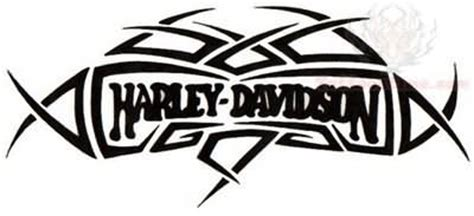 tribal harley davidson tattoo design