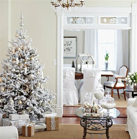 White Flocked Tree Decorations by Beautiful Trees Its Overflowing