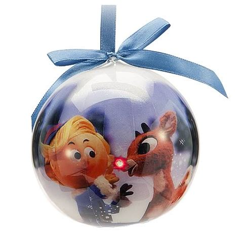 rudolph the red nosed reindeer light up ball ornament