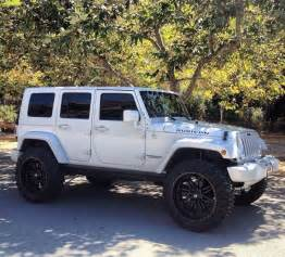 white jeep rubicon car maybe one day in the