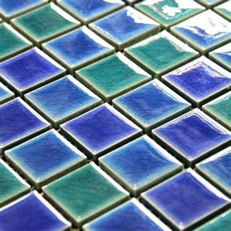 25mm square many colors available glazed ceramic mosaic