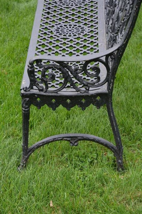 cast iron curtain cast iron curtain style bench for sale at 1stdibs