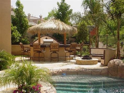How To Create A Tropical Backyard by Backyard Pool Houses And Cabanas Creating Tropical Hawaiian Backyard Landscape