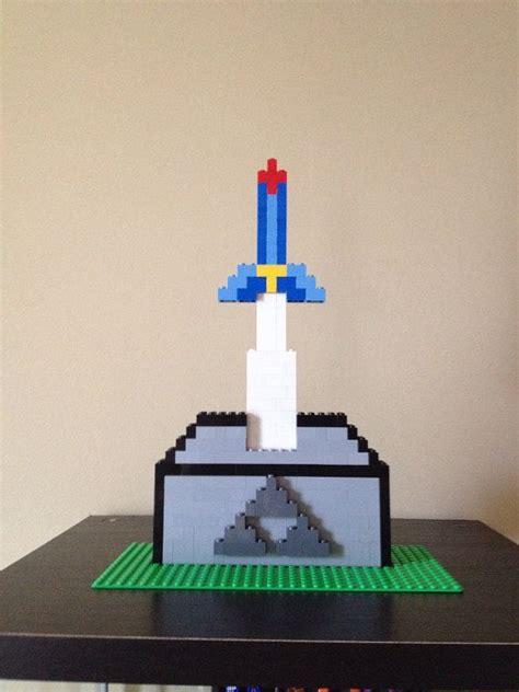lego zelda tutorial custom lego zelda master sword and base by