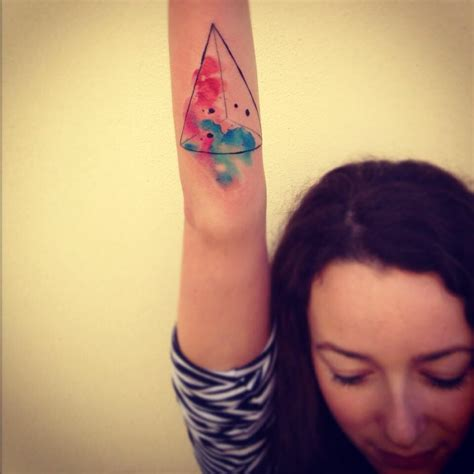 watercolor triangle tattoos watercolor triangle tattoos