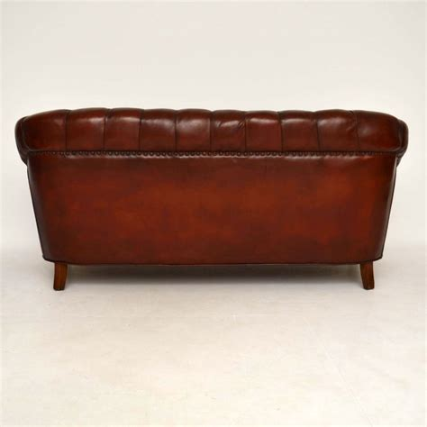 Antique Leather Chesterfield Sofa Antique Swedish Leather Chesterfield Sofa Marylebone Antiques Sellers Of Antique Furniture