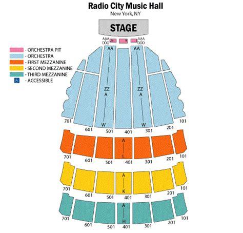 Radio City Music Hall Floor Plan by Radio City Music Hall Concert Seating Chart Radio City