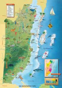 maps update 10241454 belize tourist map belize map