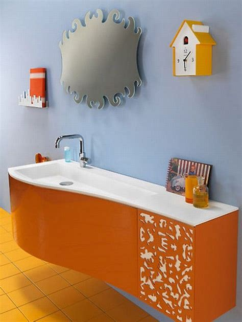 orange and green bathroom orange and green bathroom design from duebi italia