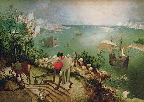 Landscape Of The Fall Of Icarus Pieter Bruegel The Elder Landscape With The Fall Of Icarus