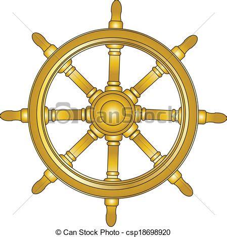 large boat steering wheel boat steering wheel icon vector eps 10