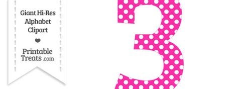 St Three Mickey Polka 1 polka dot numbers clipart