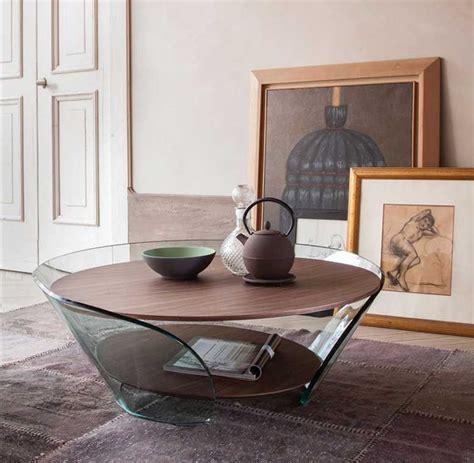 Verstellbare Tische Wohnzimmer by Couchtisch Nussbaum Glas Dass Entworfen Angelo