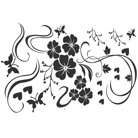 Wallsticker Flower Xy8039 flower butterfly refrigerator wall stickers decal vinyl kitchen home decor ebay