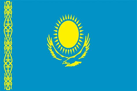 flags of the world kazakhstan kazakhstan world flag 3 x 5 nylon