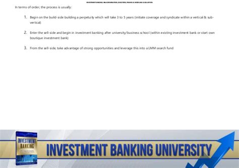 Emory Mba Investment Banking Concentration by Investment Banking How To Become An