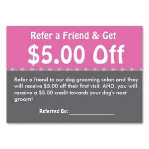 Coupon Card Template by Grooming Customer Referral Coupon Personalize Business