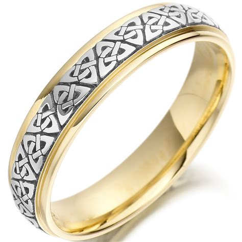 Celtic Wedding Rings by Knot Wedding Ring Two Tone Celtic