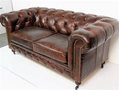 tufted distressed leather sofa georgian style distressed leather tufted sofa for sale at